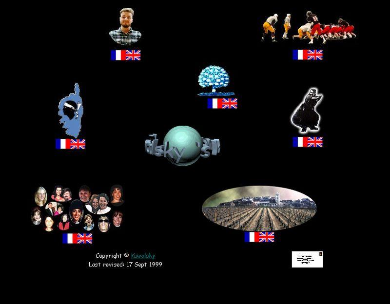 capture d'écran de Kowalsky's Homepage en 1999