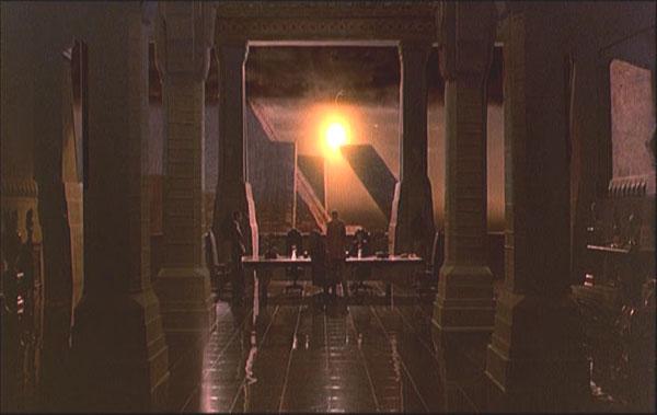Blade Runner, Rachel passe le test de Voight-Kampff ; la fenêtre commence à s'opacifier