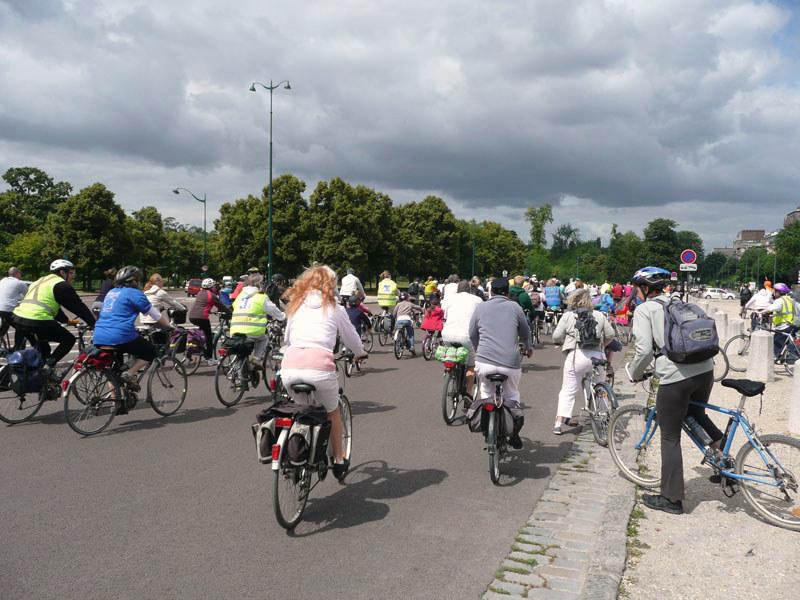 en vélo, départ de Vincennes