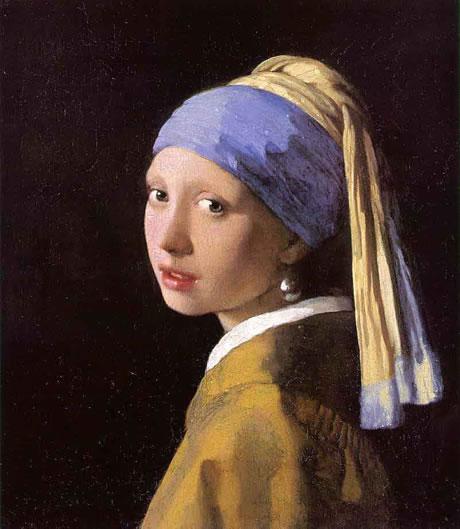 La jeune fille à la perle,  par Jan Vermeer, vers 1665