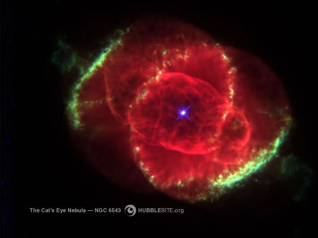 Nébuleuse NGC 6543, oeil de chat