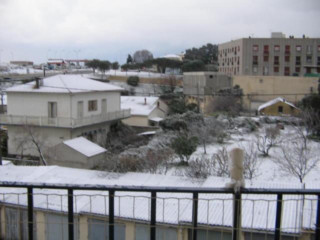 bastia sous la neige