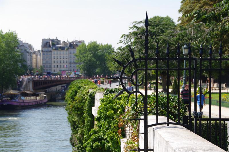 Les berges de la Seine, devant Notre Dame