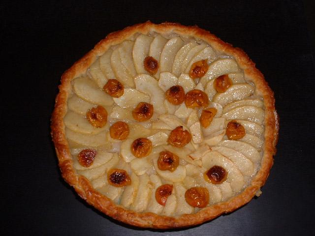 tarte aux pommes et mirabelles