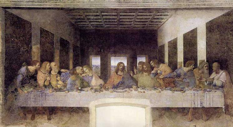 la cène , original par Léonard de Vinci